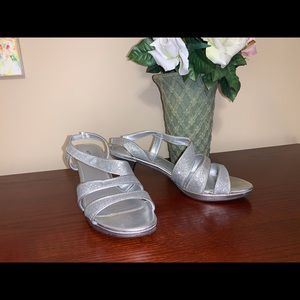"""Sparkle and Shine in """"Crystal Silver"""" Sandals"""
